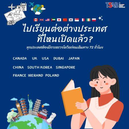 ประเทศไหนเดินทางไปเรียนต่อได้แล้ว?